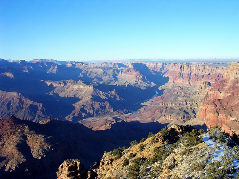 Grand Canyon, with snow