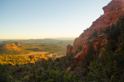 Sun Sets On the Red Rocks