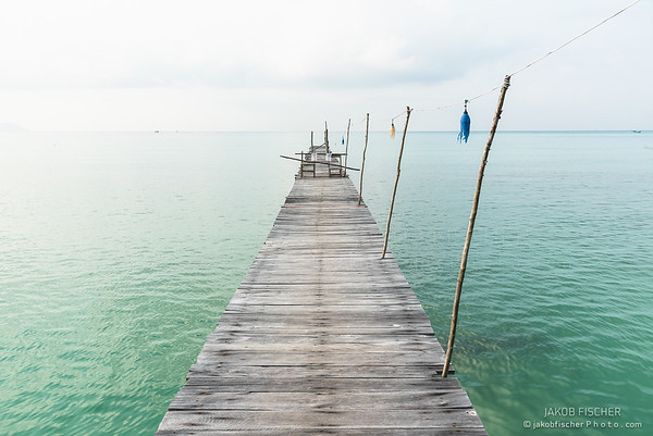 jetty on Koh Rong, Cambodia