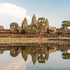 Angkor Wat reflecting in the water