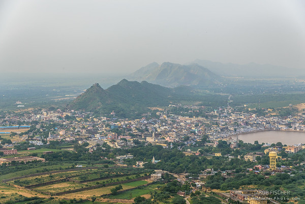 View over Pushkar from Savitri Temple