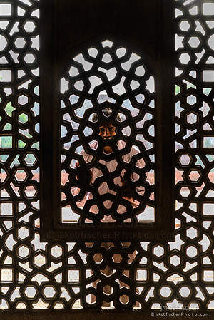 man behind the window, Humayun's Tomb