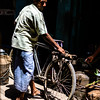Indian witha bike in Varanasi