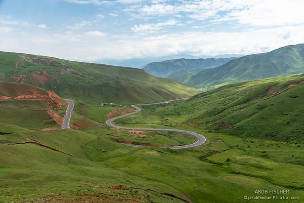 mountain pass in south Kyrgyzstan