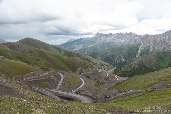 mountain pass in south Kyrgyzstan