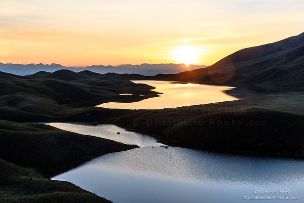 Peak Lenin valley at sunrise