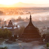 Ratanabon temple of the Mrauk U at sunset