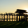 U Bein Bridge at sunset, Amarapura