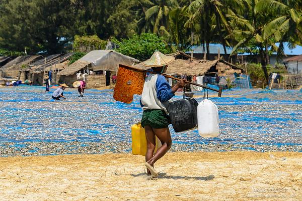 Burmese at work, Ngapali