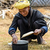 Elderly Burmese at work
