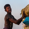 boy discharging of a ship's cargo