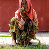 Burmese Lady smoking cigarr