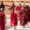 burmese monks in Bagan
