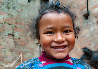 A young Newari girl in Bhaktapur, Nepal.