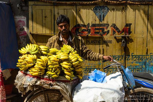 Nepalese selling Bananas