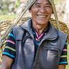 Nepalese farmer at work