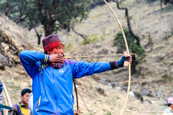 Shooting with bow and arrows