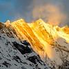 Annapurna summit at sunrise