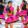 BANTAYAN ISLAND, PHILIPPINES - Young girl dancing during a school performance