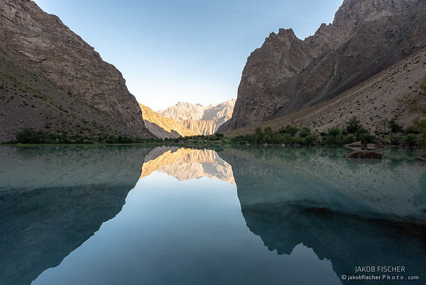 Jizev lake in zhe Pamir region
