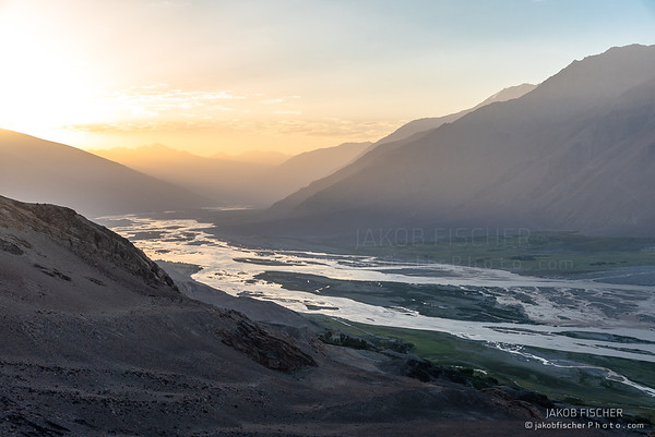 View over Tajik-Afghan border