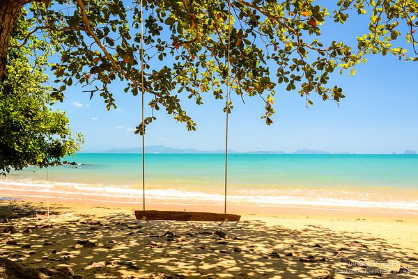 Beachfront with swing, Ko Yao Yai Beach, Thailand