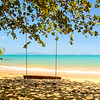 Beachfront with swing, Ko Yao Yai Beach, Thailand