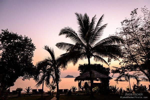 Beachfront at sunset, Ko Yao Yai