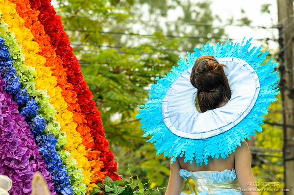 colorful flower Festival in Chiang Mai