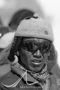 A yak herder at Rongbuk Basecamp on Mount Everest, Tibet.