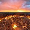 Darvaza (Dereweza) Fire crater at sunrise