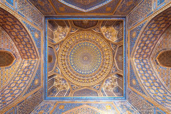 Tillya Kori Mosque in Samarkand