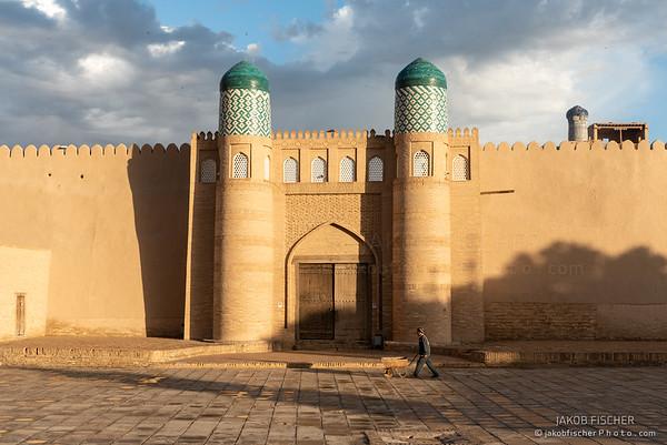 Ichan Kala at sunrise, Khiva, Uzbekistan