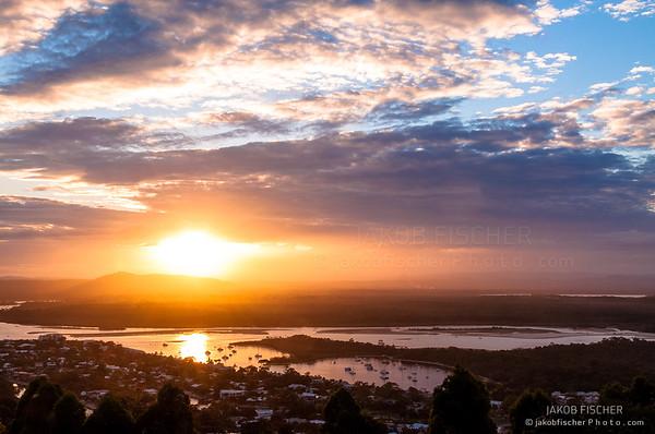 Noosa at sunset