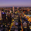 Melbourne Skyline after sunset