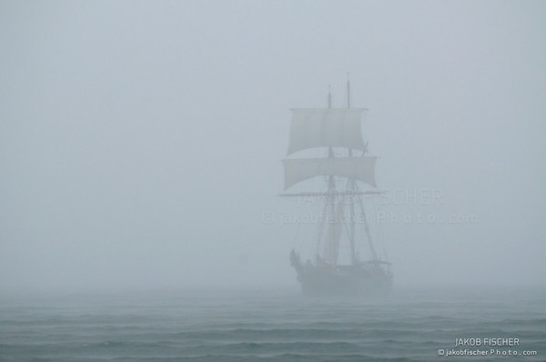 Ship in a mist