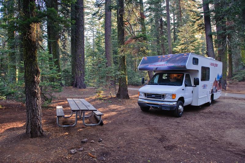 our RV Camper at Crane Flats, Yosemite
