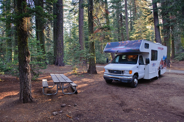 our RV Camper at Crane Flats, Yosemite