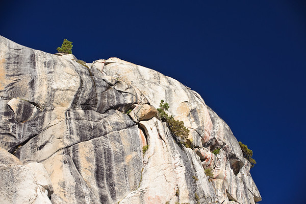Steep mountain cliff on Tioga road, Yosemite