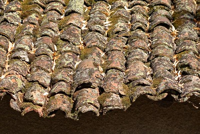 roof tiles in Ohrid, Macedonia
