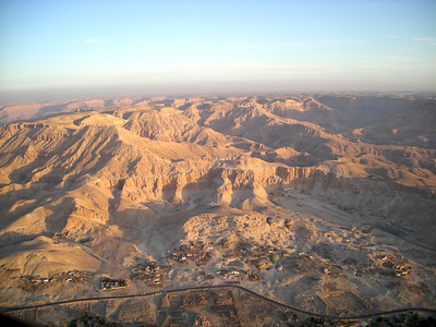 view over the Valley of the Kings, Thebes