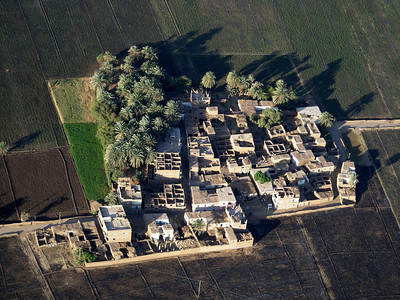dwelling compound viewed from balloon