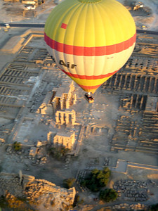 balloon over ruins...