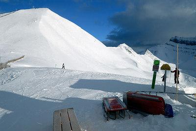 The summit at Lake Louise