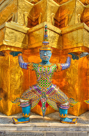 Mystical creatures, Grand Palace,  Bangkok, Thailand