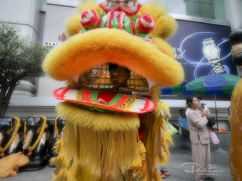 Lion Dance at Erawan Shrine
