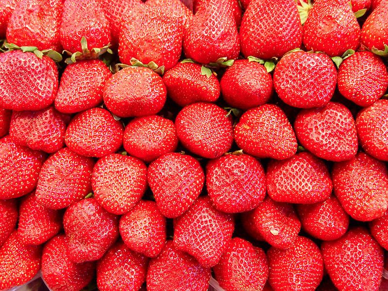 Strawberries at the Market, La Rambla, Barcelona, Spain