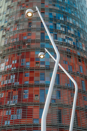 Torre Agbar lampposts