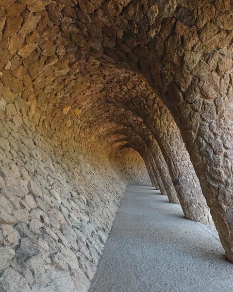 Arches at Park Güell, Barcelona