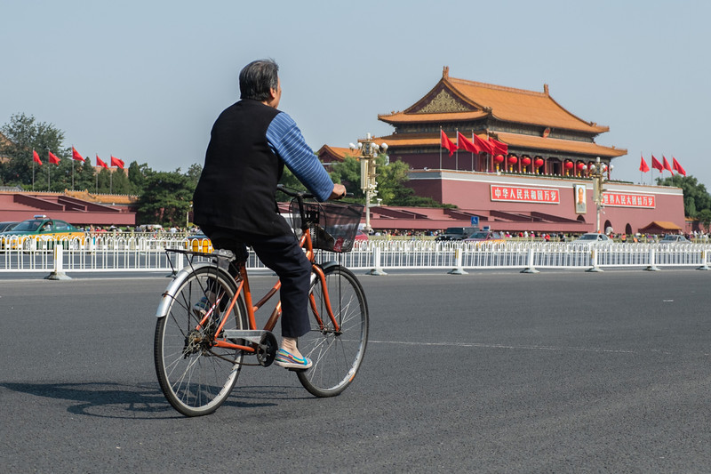 Cycling near Forbidden City, Beijing